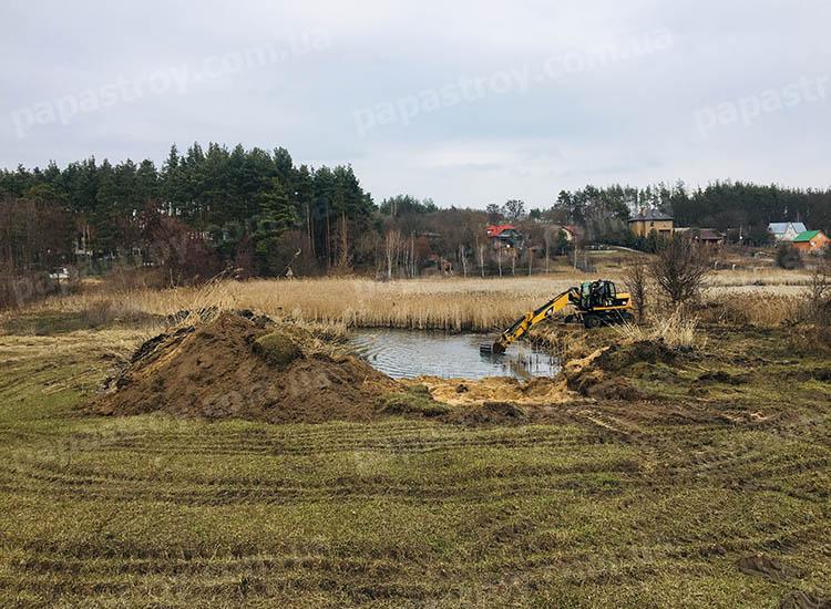 Очистка и берегоукрепление озера село Мостище