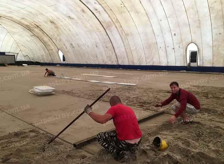 Строительство ледового катка в Киеве