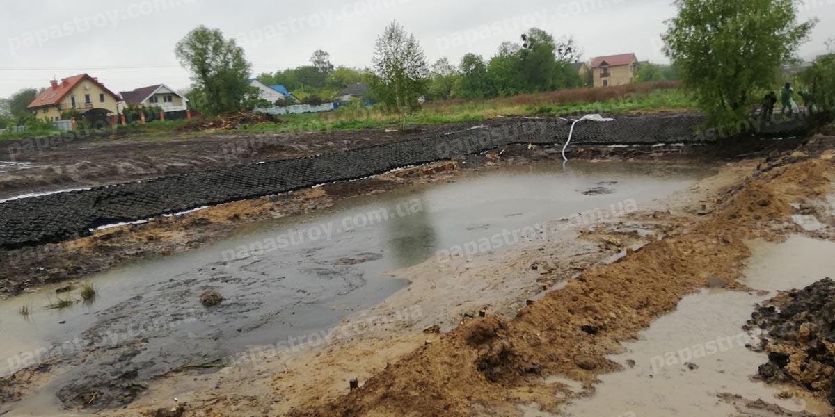 Строительство озера село Подгорцы
