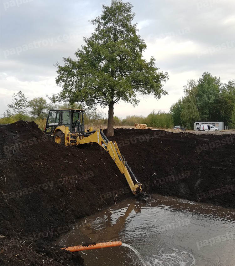 Строительство озера, пруда, ставка от компании Папа Строй