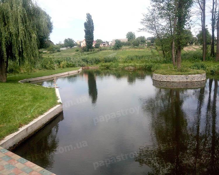 Укрепление берегов водоемов в Киеве и области